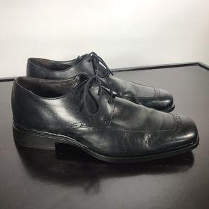 Johnston Murphy Black Leather Apron design Sz 10 M